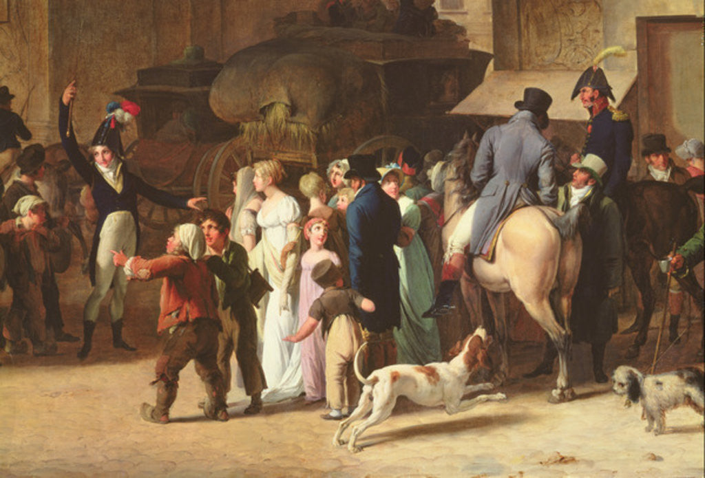 Detail of The Conscripts of 1807 Marching Past the Gate of Saint-Denis by Louis Leopold Boilly