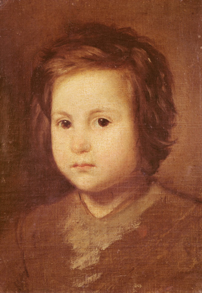 Detail of Head of a Child by Diego Rodriguez de Silva y Velazquez