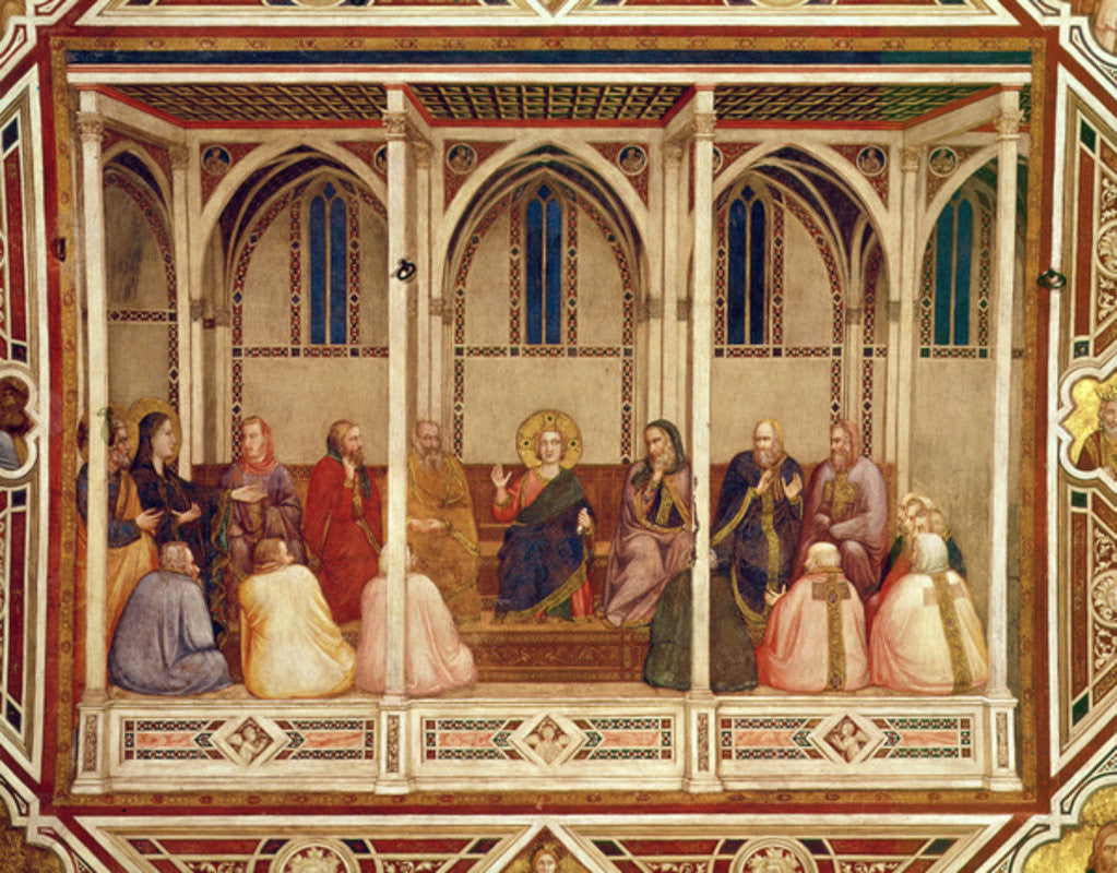 Detail of Jesus among the Doctors by Giotto di Bondone