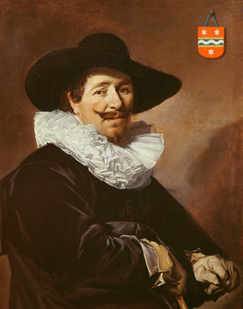 Detail of Andries van der Horn by Frans Hals