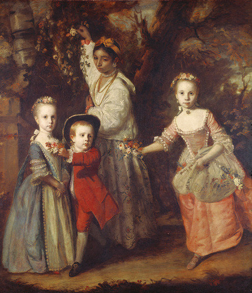 Detail of Edward Holden Cruttenden's Children with their Indian Ayah by Joshua Reynolds