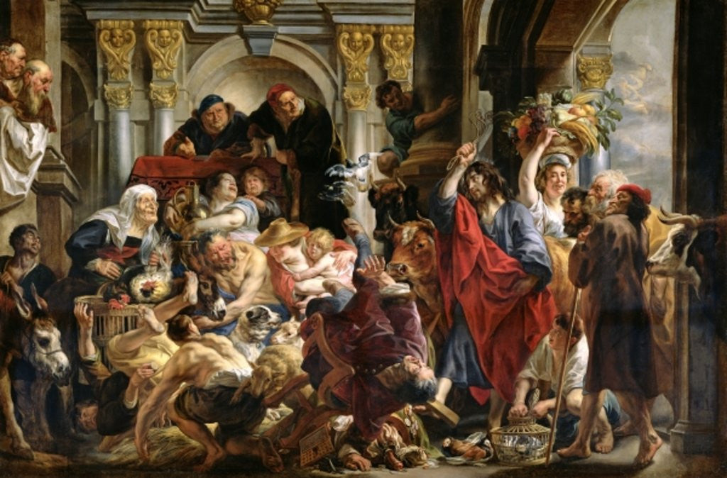 Detail of Christ Driving the Merchants from the Temple by Jacob Jordaens