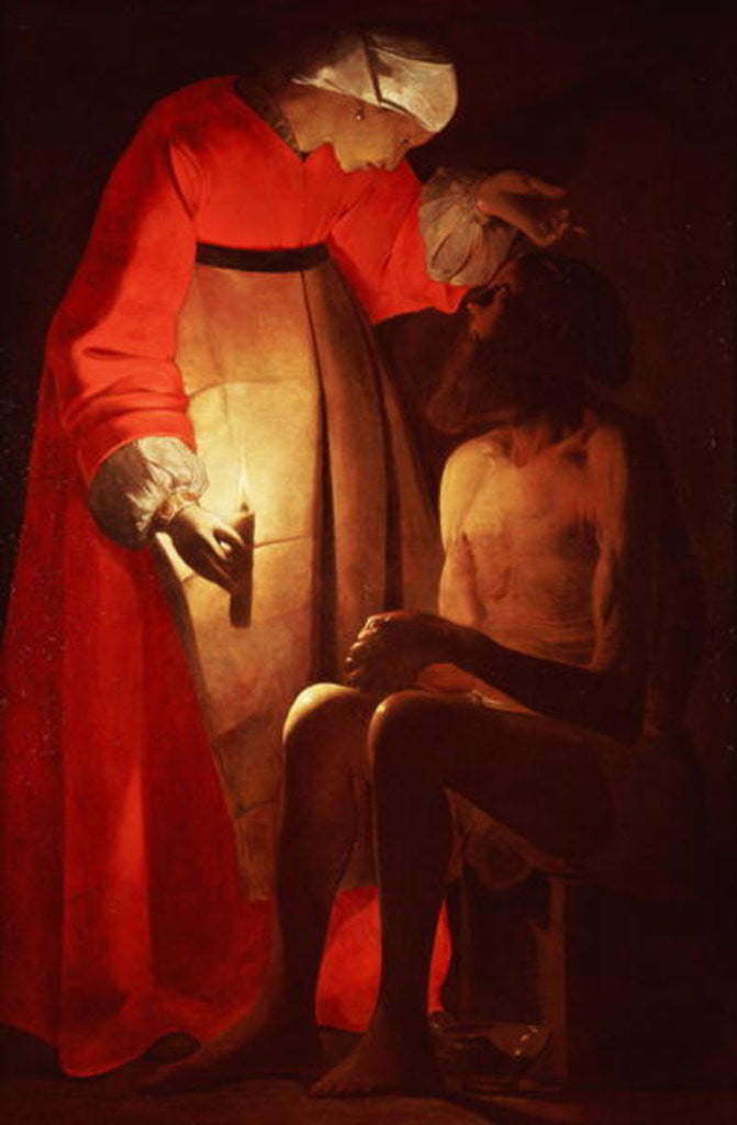 Detail of Job Mocked by His Wife by Georges de la Tour