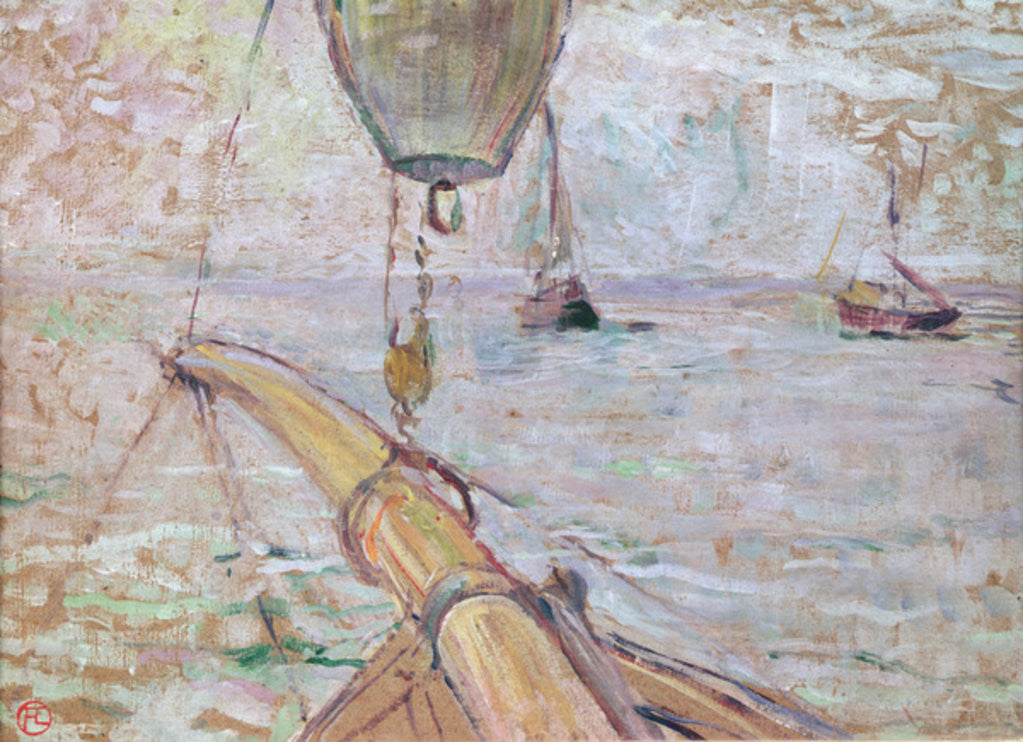Detail of View of Arcachon from the Front of the Yacht Cocorico by Henri de Toulouse-Lautrec