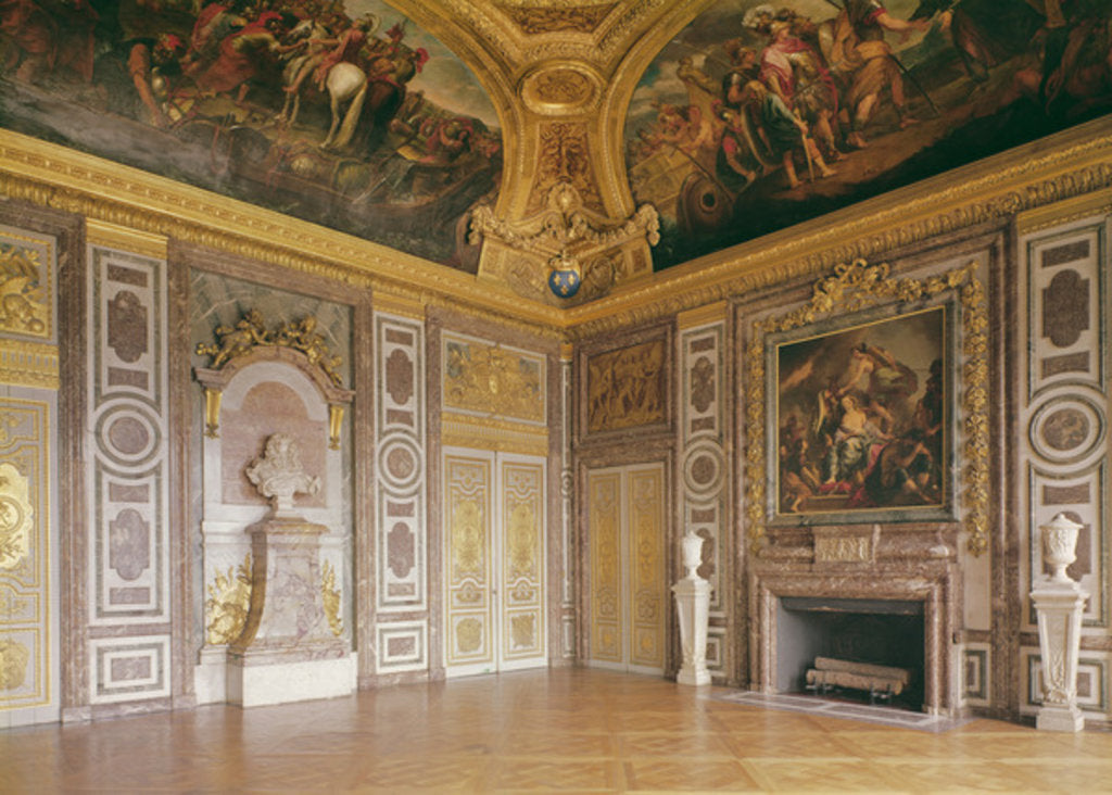 Interior View of The Château of Versailles (the salon of Diane ...