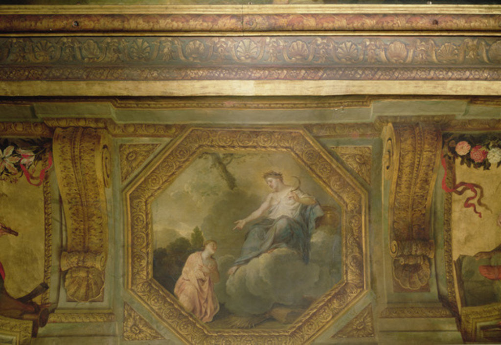 Detail of Ceiling of the Hôtel La Rivière by Charles Le Brun