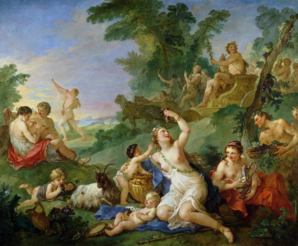 Detail of The Triumph of Bacchus by Charles Joseph Natoire