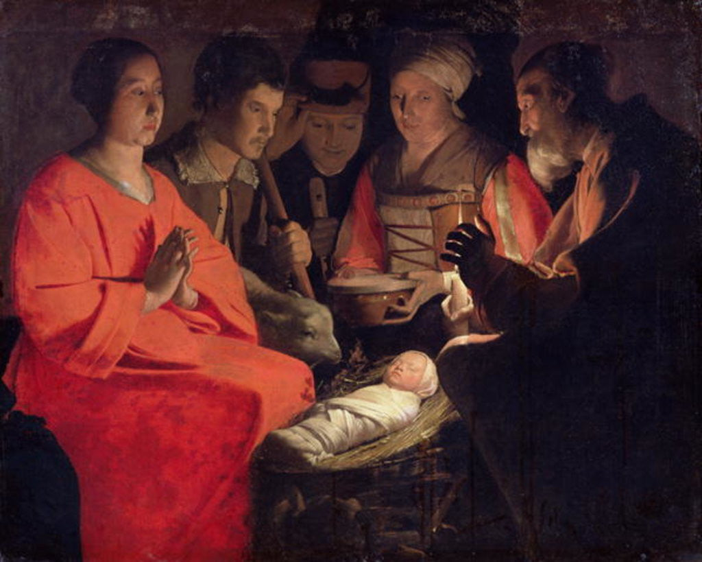 Detail of Adoration of the Shepherds by Georges de la Tour