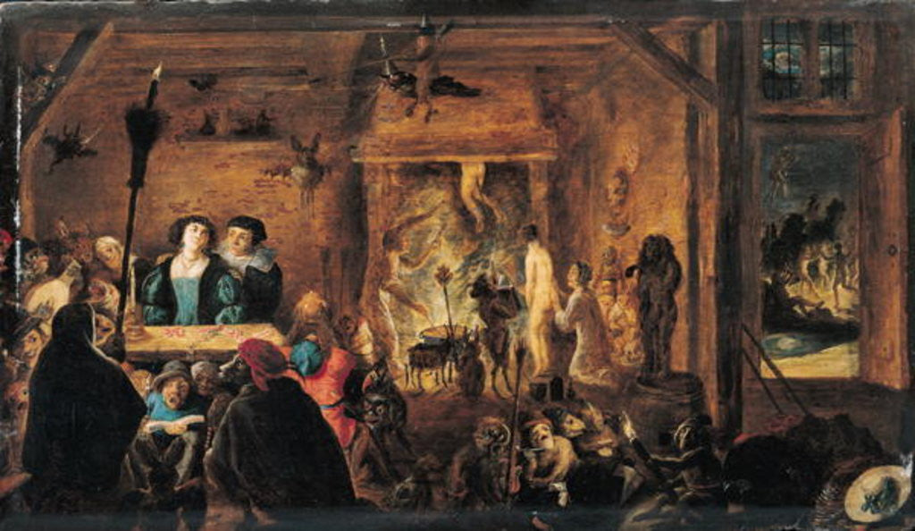 Detail of A Scene of Sorcery by David the Younger Teniers