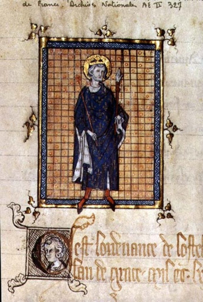 AE II 327 King Saint Louis carrying the Sceptre and the Hand of Justice