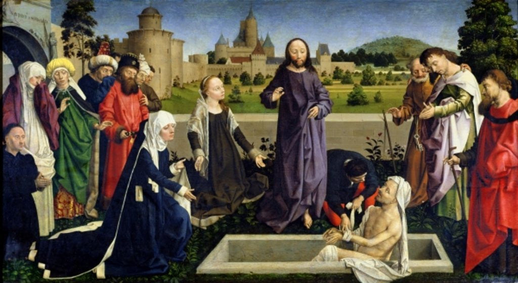 Detail of The Raising of Lazarus by Master of Coetivy