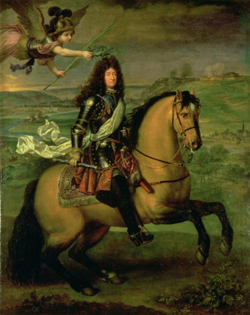 Detail of Equestrian Portrait of Louis XIV Crowned by Victory by Pierre Mignard