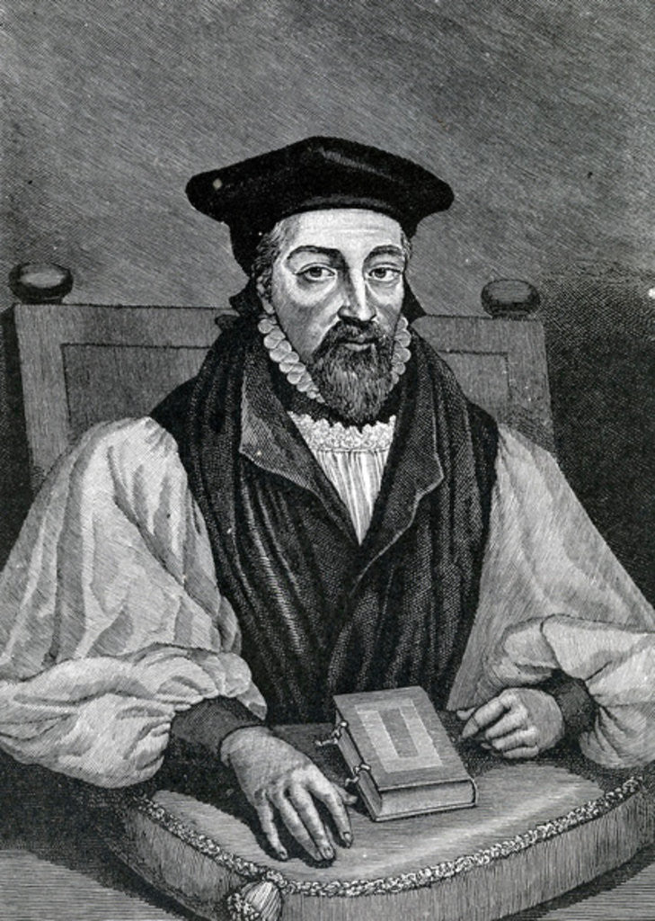 Detail of John Whitgift Archbishop of Canterbury by George Virtue