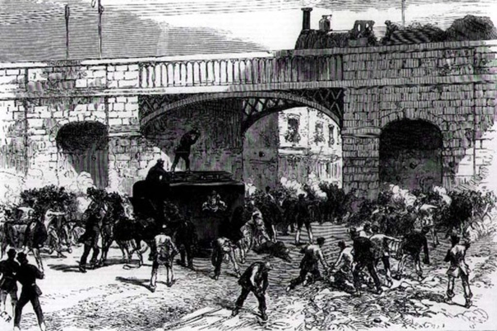 Detail of Attack on the Prison Van at Manchester, and the Rescue of the Fenian Leaders Allan, Larkin and O'Brien by English School