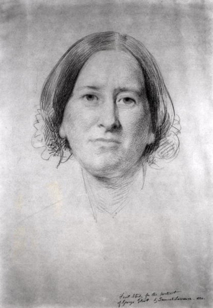 Detail of First Study for the Portrait of George Eliot (Mary Ann Evans) by Samuel Laurence