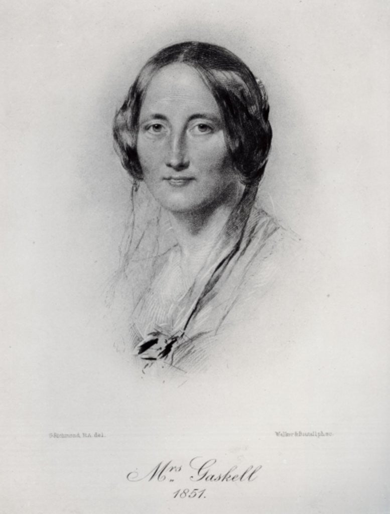 Detail of Elizabeth Cleghorn Gaskell by George Richmond