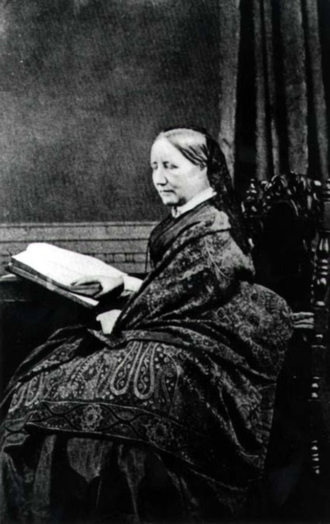 Detail of Elizabeth Cleghorn Gaskell 19th century by English Photographer