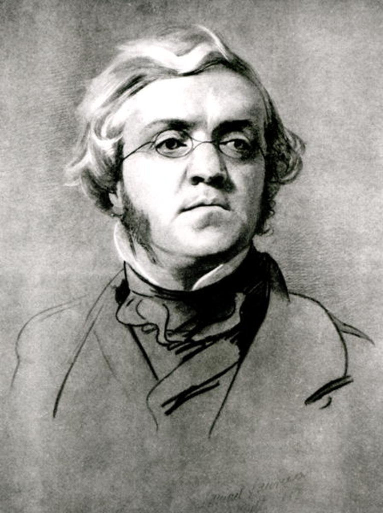 Detail of William Makepeace Thackeray by Samuel Laurence