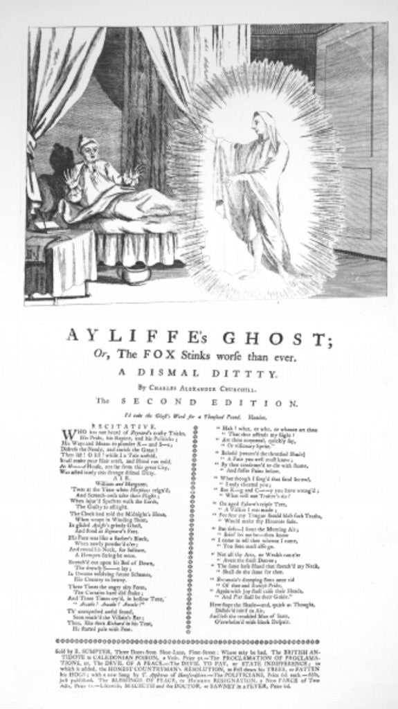 Ayliffe's Ghost: Or the Fox Stinks Worse than Ever, by Charles Alexander Churchill by English School
