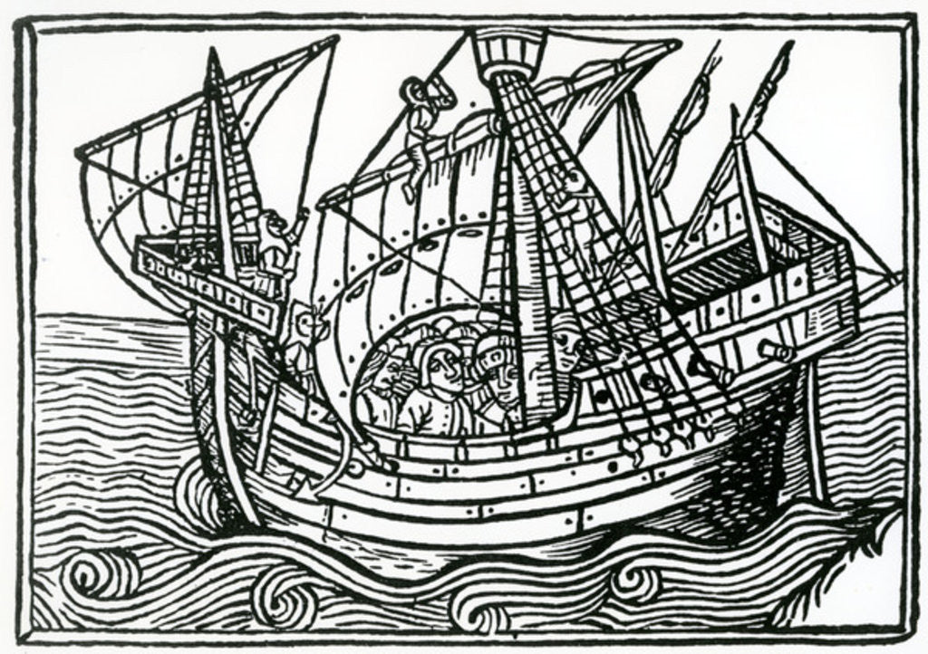 Detail of A Spanish Ship by Christopher Columbus