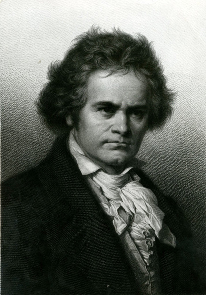 Detail of Portrait of Beethoven by Carl Jager