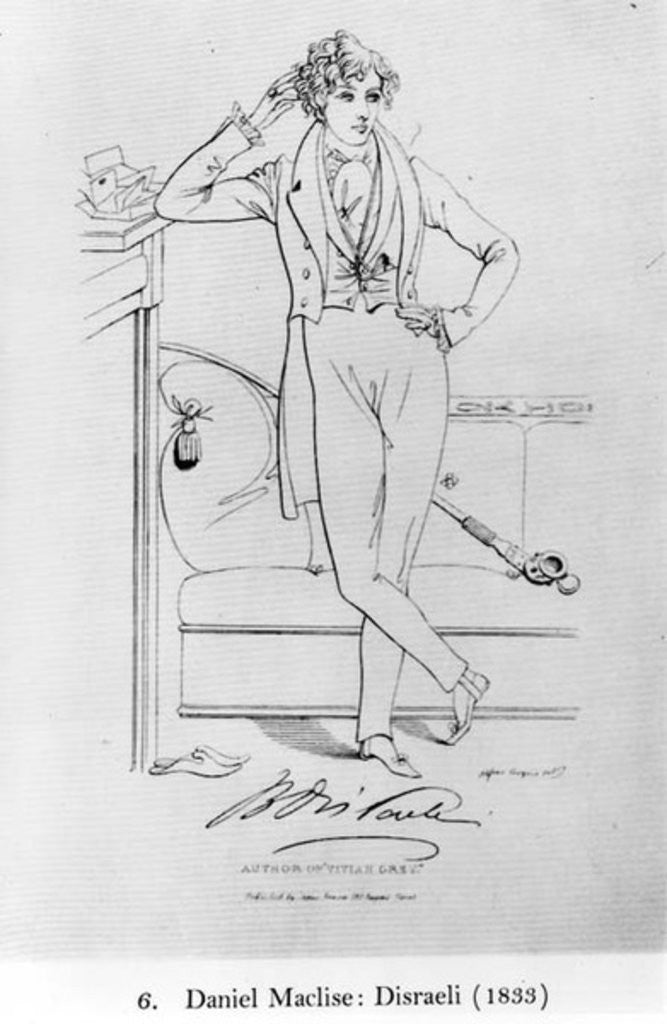 Portrait of Benjamin Disraeli Author of 'Vivian Grey' by Daniel Maclise