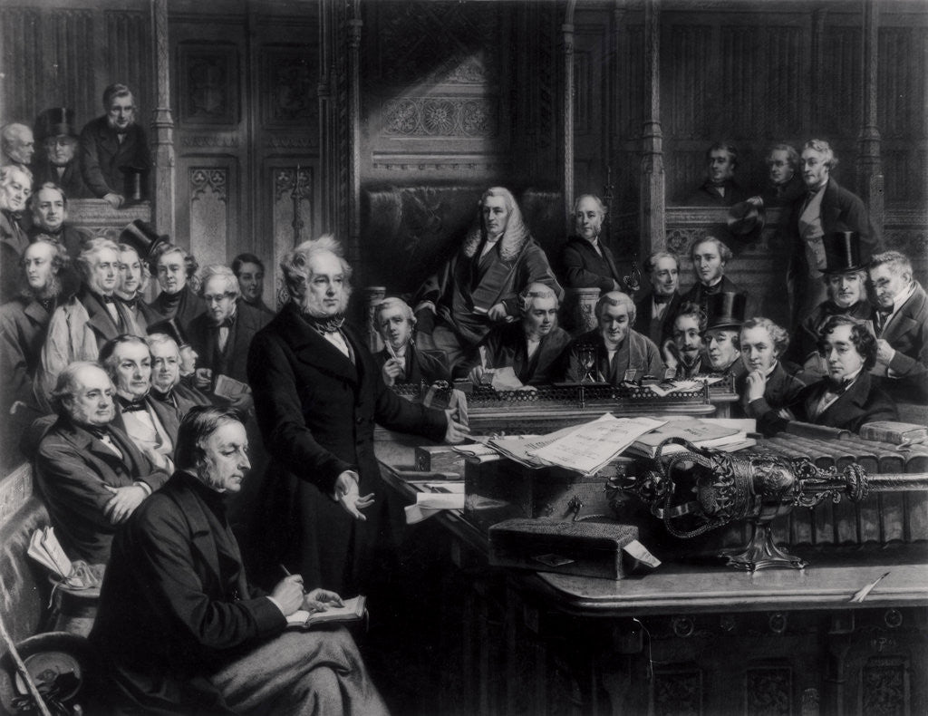 Detail of The House of Commons in 1860: Lord Palmerston Addressing the House during the Debate on the Treaty with France by John Phillip