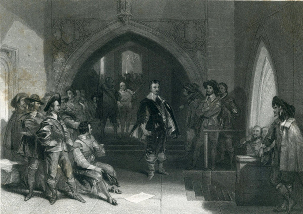 Detail of Arrest of Lord Strafford by English School