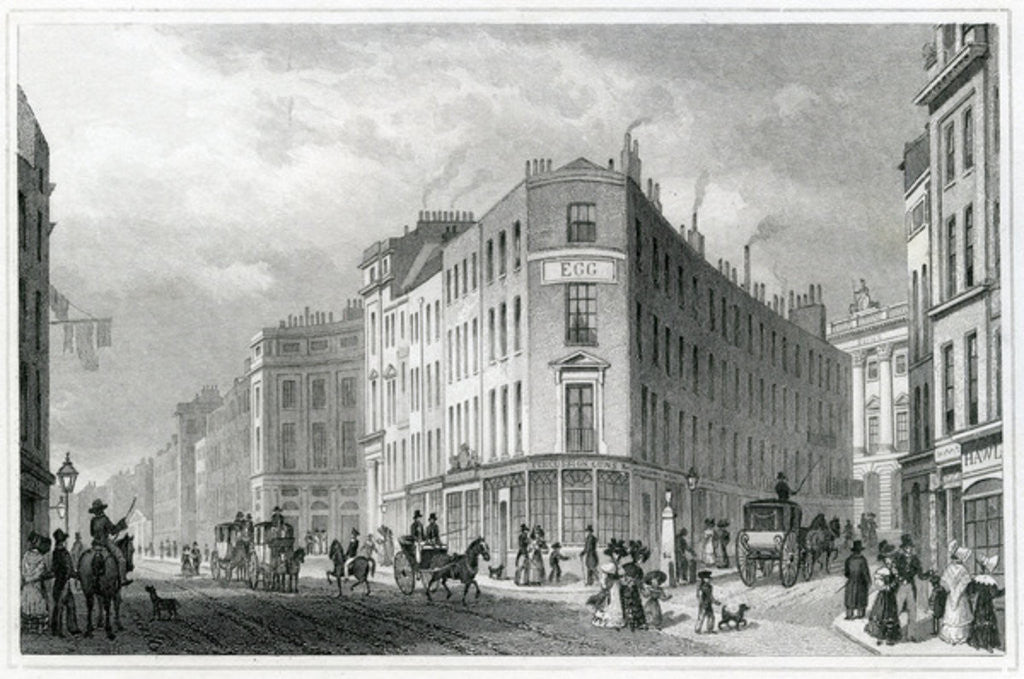 Detail of Piccadilly by Thomas Hosmer Shepherd
