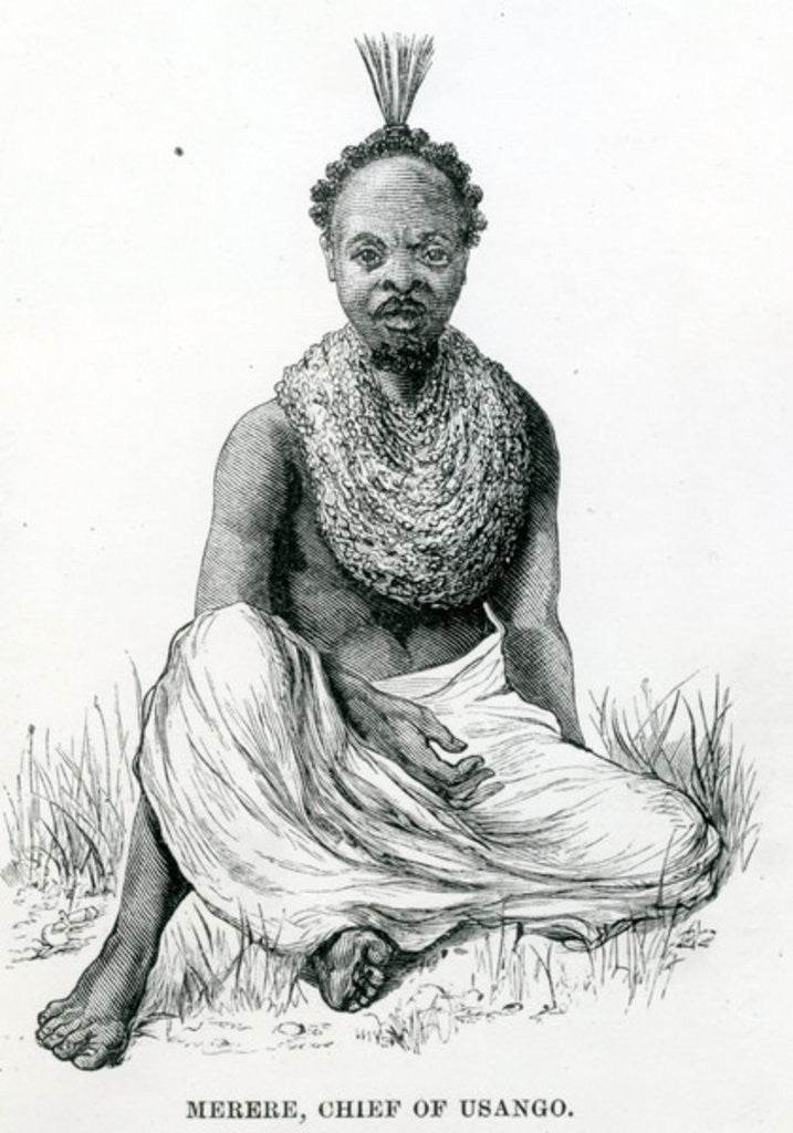 Detail of Merere, chief of the Usango from 'Travels in Africa' by English School
