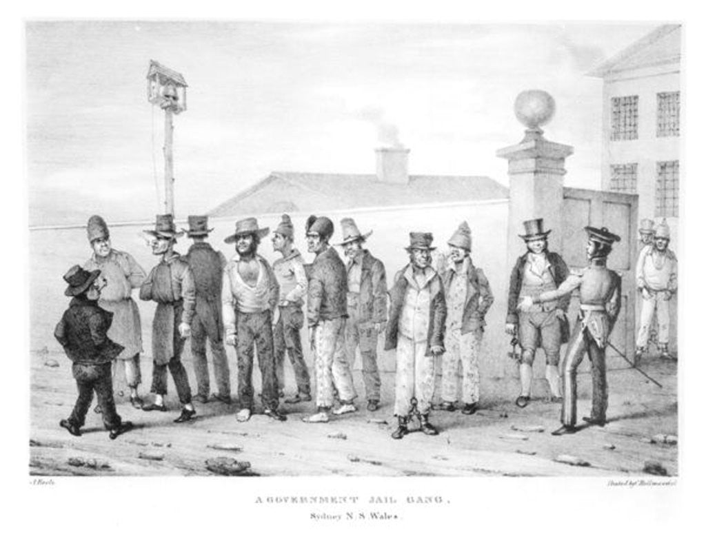 Detail of A Government Jail Gang, Sydney, New South Wales by Augustus Earle