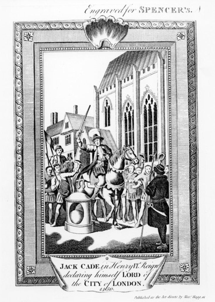 Detail of Jack Cade in Henry VI's Reign Declaring Himself Lord of the City of London by English School