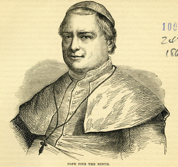 Detail of Pope Pius IX by English School