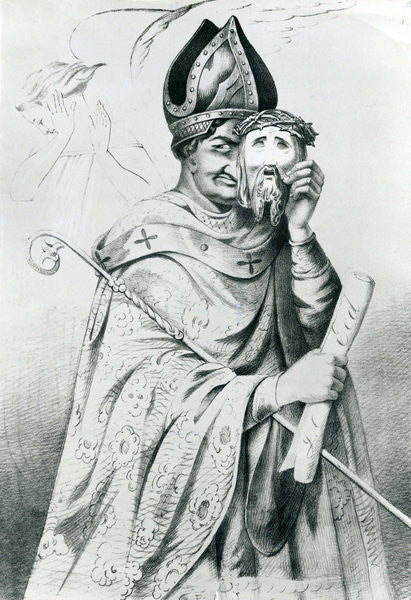 Detail of Caricature of Pope Pius IX by Dutch School
