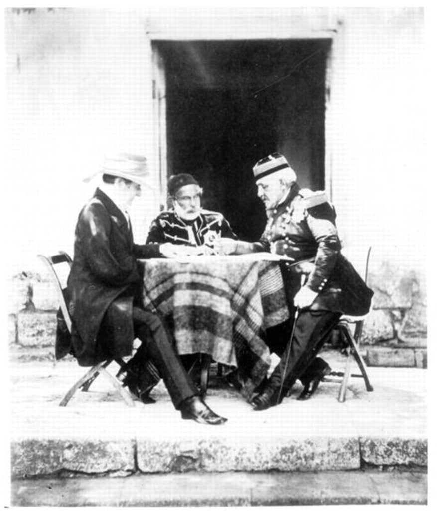 Lord Raglan, Omar Pasha and General Pelissier, Crimea by Roger Fenton