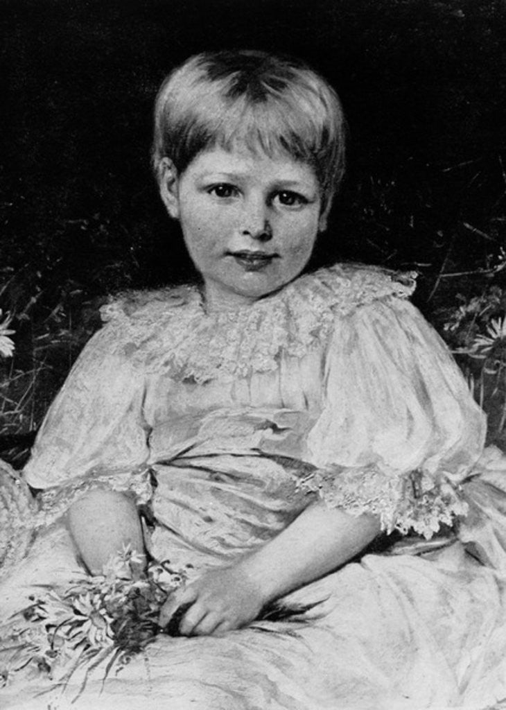 Detail of Radclyffe Hall aged 5 by English School
