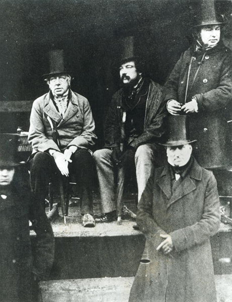 Detail of From LtoR, Lord Paget, Lord Carlisle and Isambard Kingdom Brunel by English Photographer