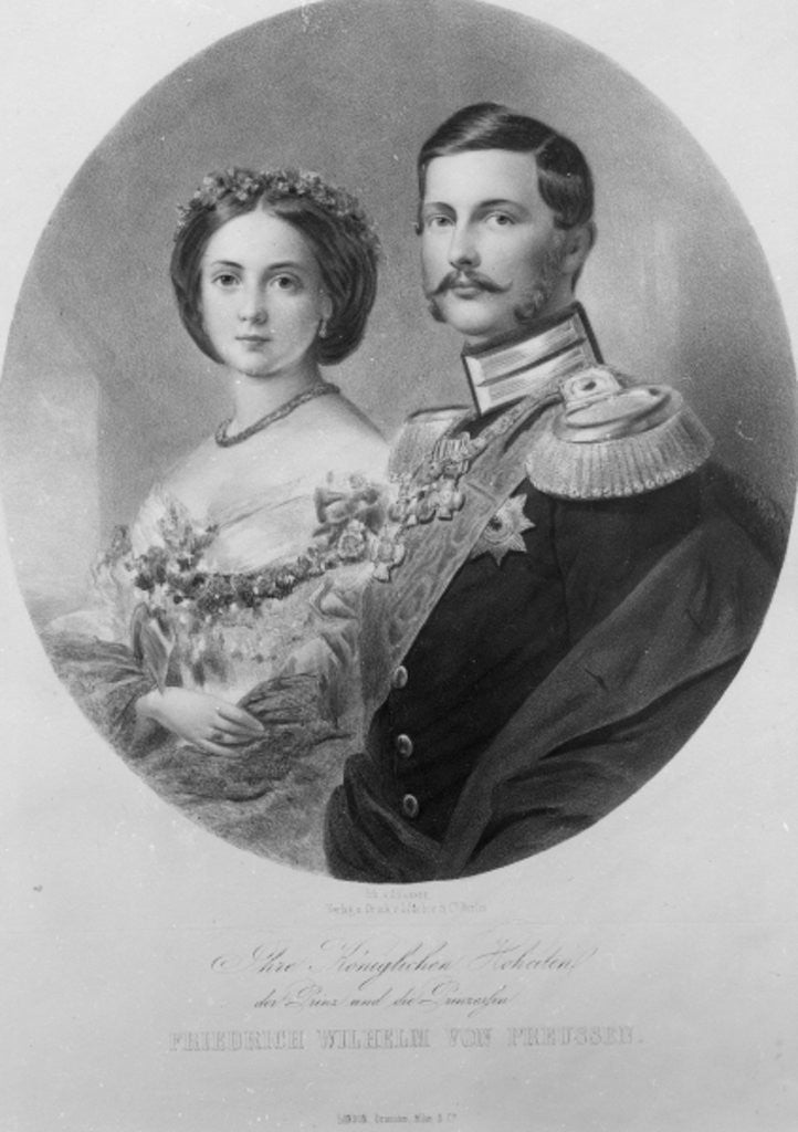 Detail of Wedding Portrait of Their Royal Highnesses Princess Victoria and Crown Prince Frederick William of Prussia by German School