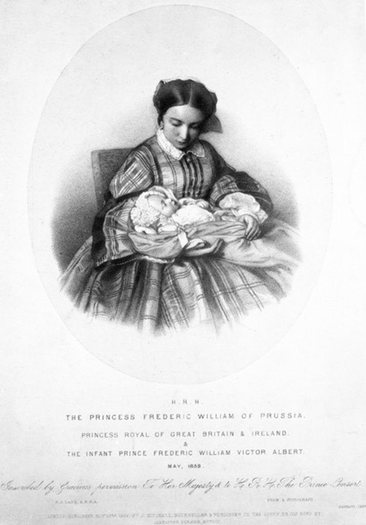 Victoria, the Princess Royal with her son, Prince Frederick William Victor Albert, May 1859