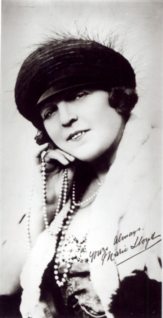 Detail of Signed photograph of Marie Lloyd by English Photographer