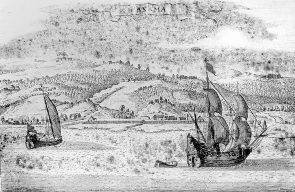 Detail of View of Panama by English School