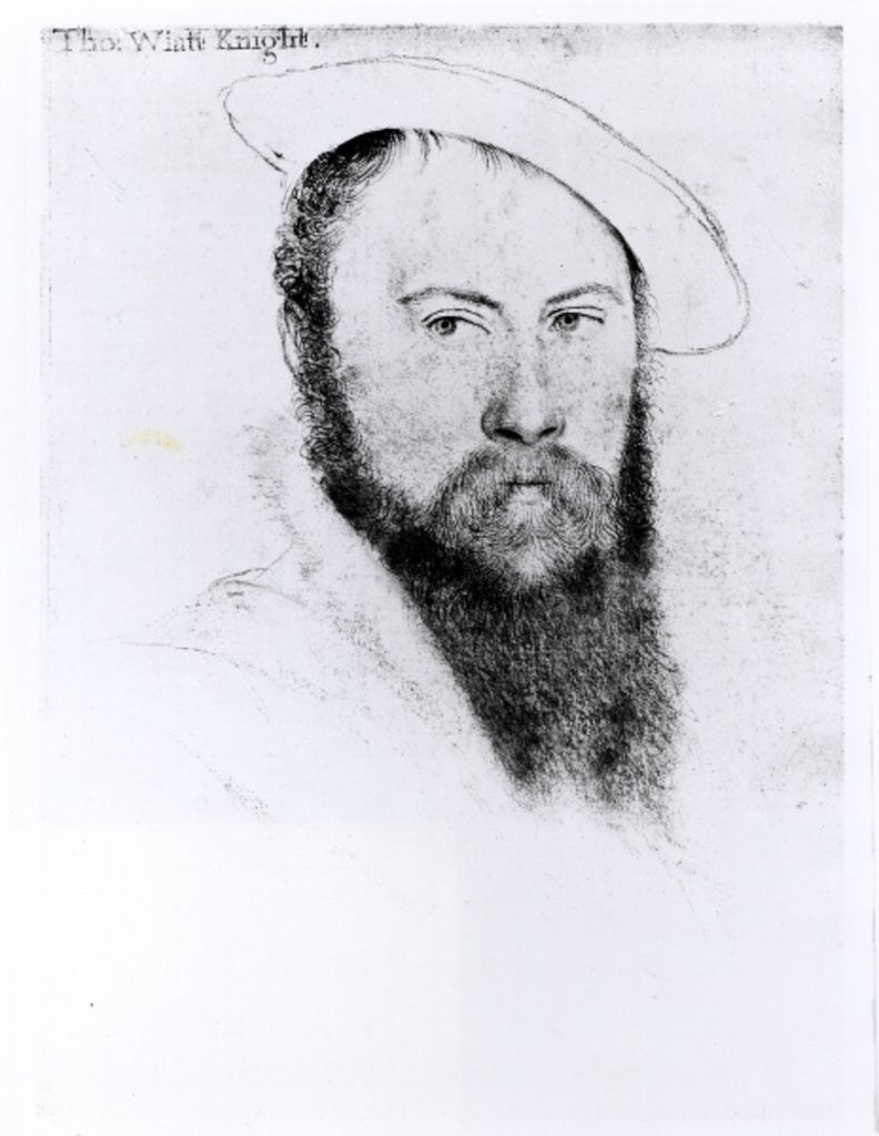 Detail of Portrait of Sir Thomas Wyatt the Younger by Hans Holbein The Younger