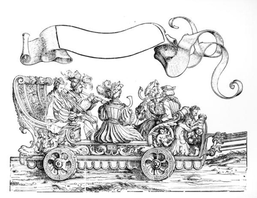 Detail of A Scene from Maximilian's Triumphal Procession by Hans Burgkmair