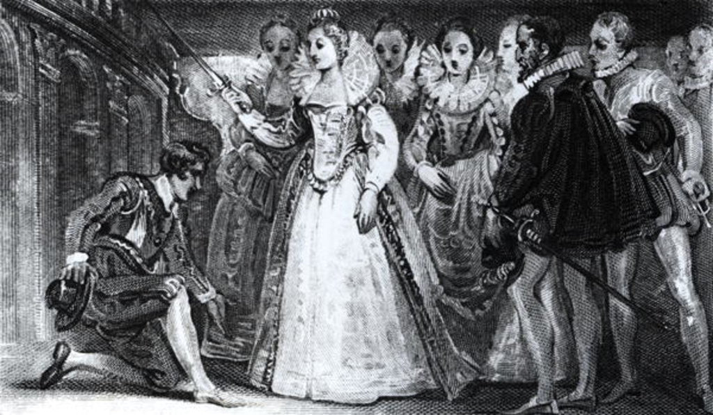 Queen Elizabeth I Knighting Francis Drake in 1581 by English School
