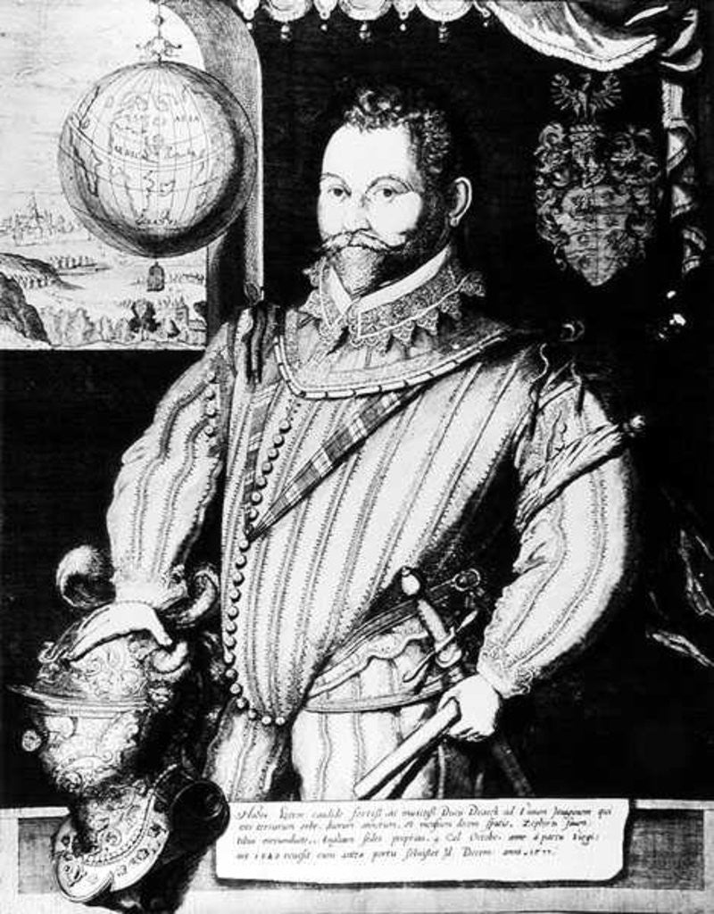Detail of Portrait of Sir Francis Drake by English School