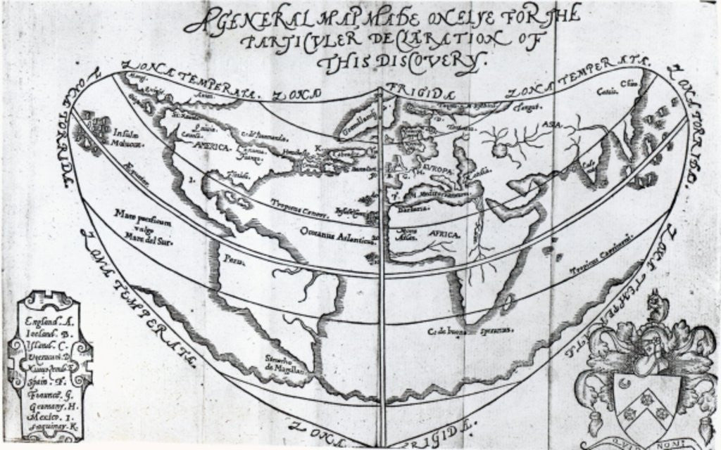 Detail of A General Map by English School