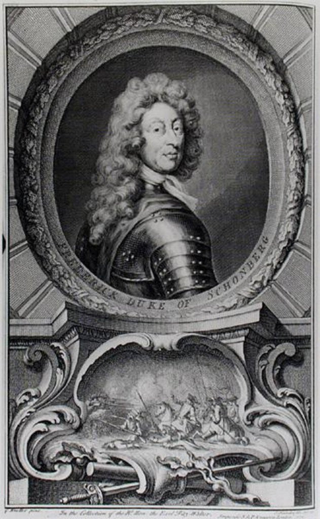 Frederick, Duke of Schomberg engraved by Jacobus Houbraken by Sir Godfrey Kneller