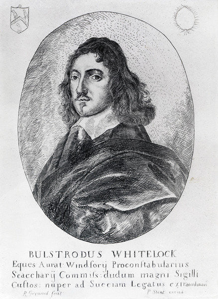 Detail of Bulstrode Whitelock, commissioner of the Great Seal under Cromwell by English School
