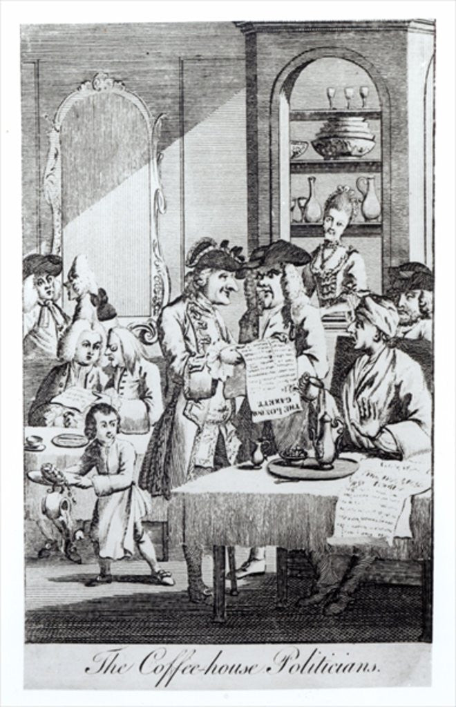 Detail of The Coffee House Politicians by English School