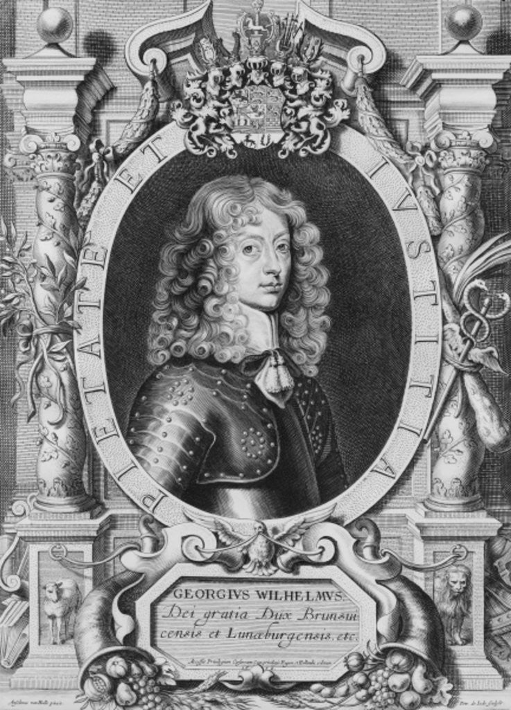 Detail of George William Duke of Braunschweig-Luneberg by engraved by Petrus de Iode
